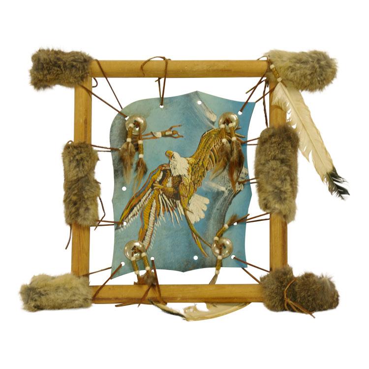 Dekorationsmaterial indianerbild aus leder for Deko mieten