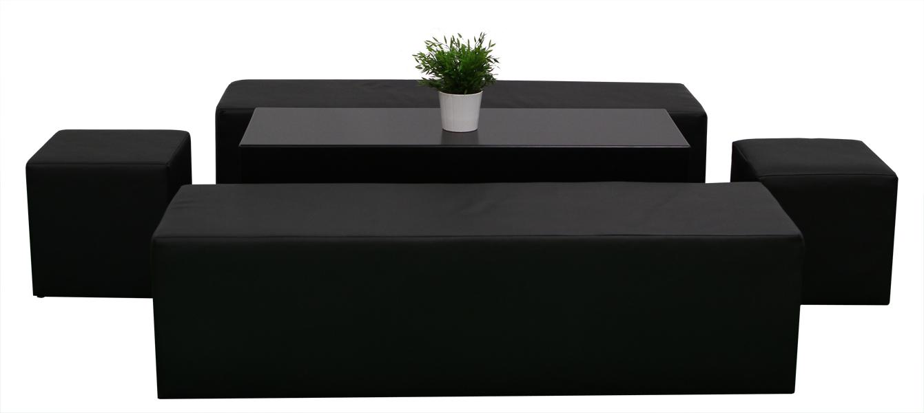 Themen dekoration lounge im cube style schwarz - Dekoration lounge ...